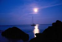puesta sol barco