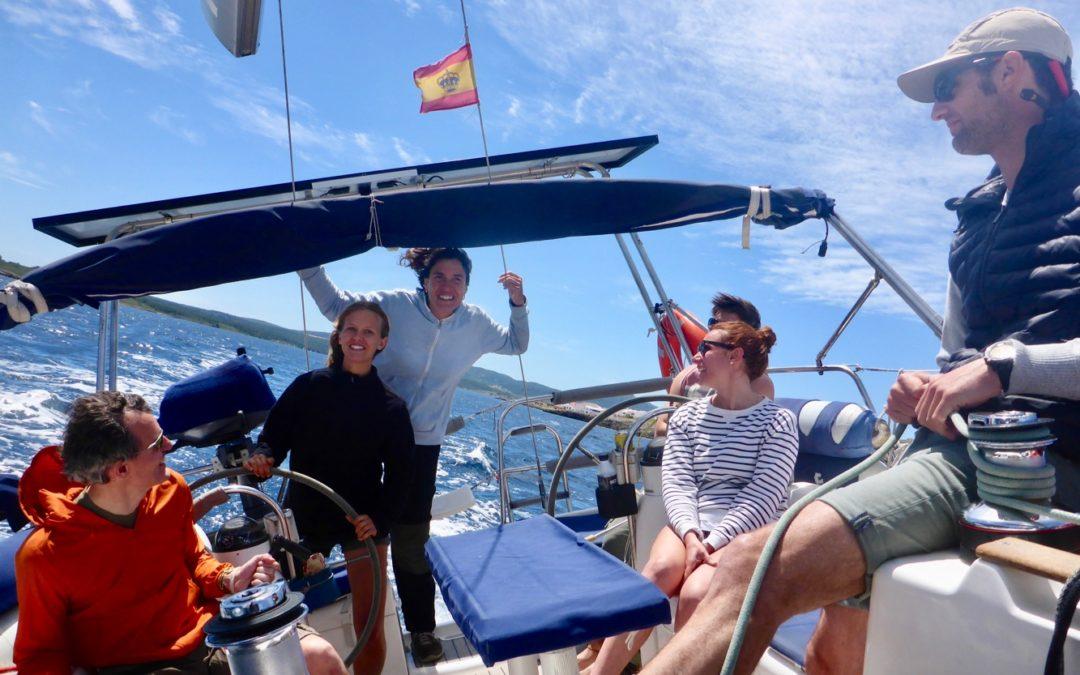 Team building en velero para empresas